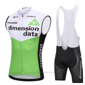 2018 Gilet Coupe-vent Dimension Data Blanc et Vert