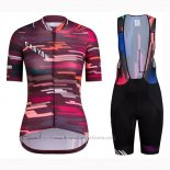 2019 Maillot Cyclisme Femme Canyon Rouge Manches Courtes et Cuissard