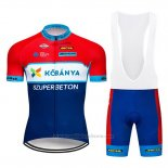2019 Maillot Cyclisme Kobanya Rouge Blanc Bleu Manches Courtes et Cuissard