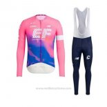 2020 Maillot Cyclisme EF Education First Rose Manches Longues et Cuissard