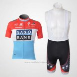 2010 Maillot Cyclisme Saxo Bank Luxembourg Manches Courtes et Cuissard