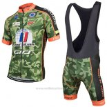 2017 Maillot Cyclisme Armee De Terre Camouflage Manches Courtes et Cuissard