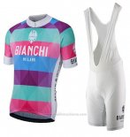 2017 Maillot Cyclisme Bianchi Milano Aviolo Rouge Manches Courtes et Cuissard