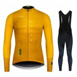 2020 Maillot Cyclisme NDLSS Jaune Manches Longues et Cuissard