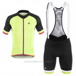 2017 Maillot Cyclisme Giordana Jaune Manches Courtes et Cuissard