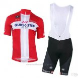 2018 2019 Maillot Cyclisme Quick Step Floors Champion Danemark Manches Courtes et Cuissard