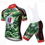 2019 Maillot Cyclisme Armee De Terre Camouflage Manches Courtes et Cuissard