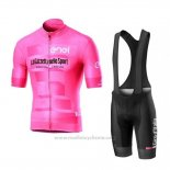2019 Maillot Cyclisme Giro d'Italia Rose Manches Courtes et Cuissard