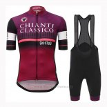 2019 Maillot Cyclisme Giro d'Italia Violet Manches Courtes et Cuissard