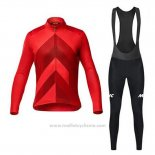2020 Maillot Cyclisme Mavic Rouge Manches Longues et Cuissard