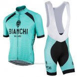 2017 Maillot Cyclisme Bianchi Milano Meja Vert Manches Courtes et Cuissard