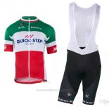 2018 2019 Maillot Cyclisme Quick Step Floors Champion Italie Manches Courtes et Cuissard