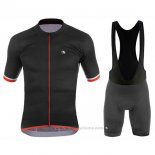 2017 Maillot Cyclisme Giordana Silver Line Noir Manches Courtes et Cuissard