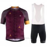 2018 Maillot Cyclisme Craft Monument Fonce Rouge Manches Courtes et Cuissard