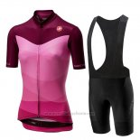 2019 Maillot Cyclisme Femme Castelli Tabula Rose Manches Courtes et Cuissard