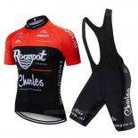 2019 Maillot Cyclisme Roompot Charles Rouge Noir Manches Courtes et Cuissard
