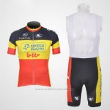 2011 Maillot Cyclisme Omega Pharma Lotto Champion Belga Manches Courtes et Cuissard