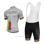 2017 Maillot Cyclisme Aquadro Attackers Blanc Manches Courtes et Cuissard