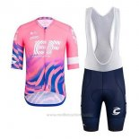 2020 Maillot Cyclisme EF Education First Rose Manches Courtes et Cuissard