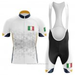 2020 Maillot Cyclisme Italie Blanc Manches Courtes et Cuissard (3)
