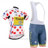 2016 Maillot Cyclisme Tinkoff Rouge et Lider Blanc Manches Courtes et Cuissard