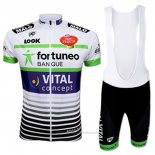 2017 Maillot Cyclisme Fortuneo Vital Concept Blanc Manches Courtes et Cuissard