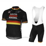 2017 Maillot Cyclisme Lotto Soudal Champion Belga Manches Courtes et Cuissard