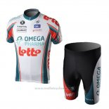 2010 Maillot Cyclisme Omega Pharma Lotto Champion Italie Manches Courtes et Cuissard