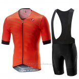 2019 Maillot Cyclisme Castelli Free Speed Race Orange Manches Courtes et Cuissard