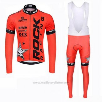 2019 Maillot Cyclisme Rock Racing SIDI Orange Manches Longues et Cuissard