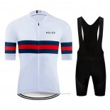 2020 Maillot Cyclisme NDLSS Blanc Manches Courtes et Cuissard