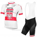 2016 Maillot Cyclisme Lotto Soudal Champion Pologne Manches Courtes et Cuissard