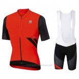 2017 Maillot Cyclisme Sportful R&d Ultraskin Rouge Manches Courtes et Cuissard