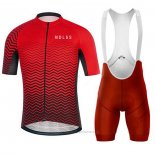 2020 Maillot Cyclisme NDLSS Rouge Manches Courtes et Cuissard