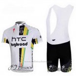 2011 Maillot Cyclisme HTC Highroad Blanc Manches Courtes et Cuissard