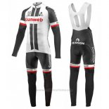 2017 Maillot Cyclisme Sunweb Blanc Manches Longues et Cuissard