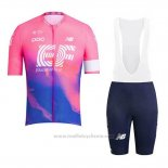 2019 Maillot Cyclisme EF Education First Rose Manches Courtes et Cuissard