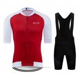 2020 Maillot Cyclisme NDLSS Blanc Rouge Manches Courtes et Cuissard