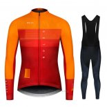 2020 Maillot Cyclisme NDLSS Jaune Orange Manches Longues et Cuissard