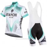 2017 Maillot Cyclisme Bianchi Milano Blanc Manches Courtes et Cuissard