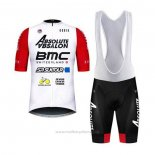 2020 Maillot Cyclisme BMC Absolute Absalon Blanc Rouge Manches Courtes et Cuissard