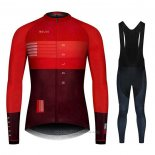 2020 Maillot Cyclisme NDLSS Fonce Rouge Manches Longues et Cuissard