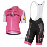 2017 Maillot Cyclisme Quick Step Rose Manches Courtes et Cuissard