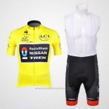 2012 Maillot Cyclisme Radioshack Lider Jaune Manches Courtes et Cuissard