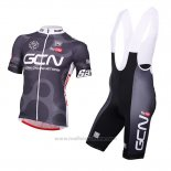 2016 Maillot Cyclisme Global Cycling Network Gris et Rouge Manches Courtes et Cuissard
