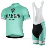 2017 Maillot Cyclisme Bianchi Milano Pride Vert Manches Courtes et Cuissard