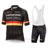 2019 Maillot Cyclisme Cannondale Shimano Champion Allemagne Manches Courtes et Cuissard